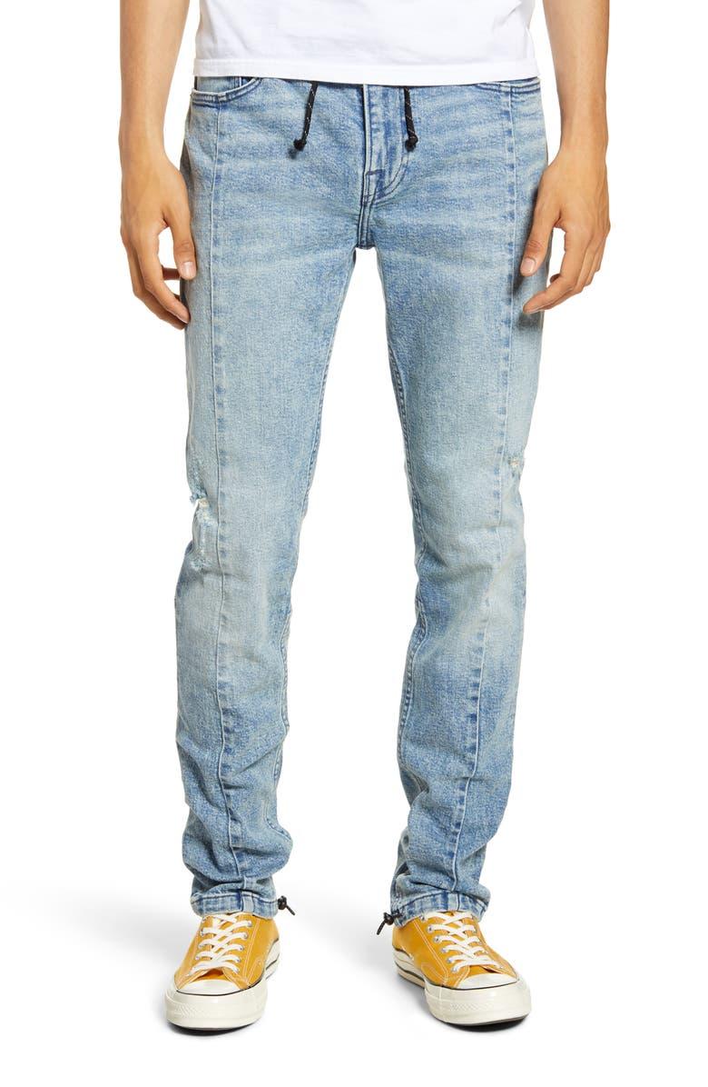 HUDSON JEANS Hudson Skinny Fit Drawstring Jeans, Main, color, DEFENDER
