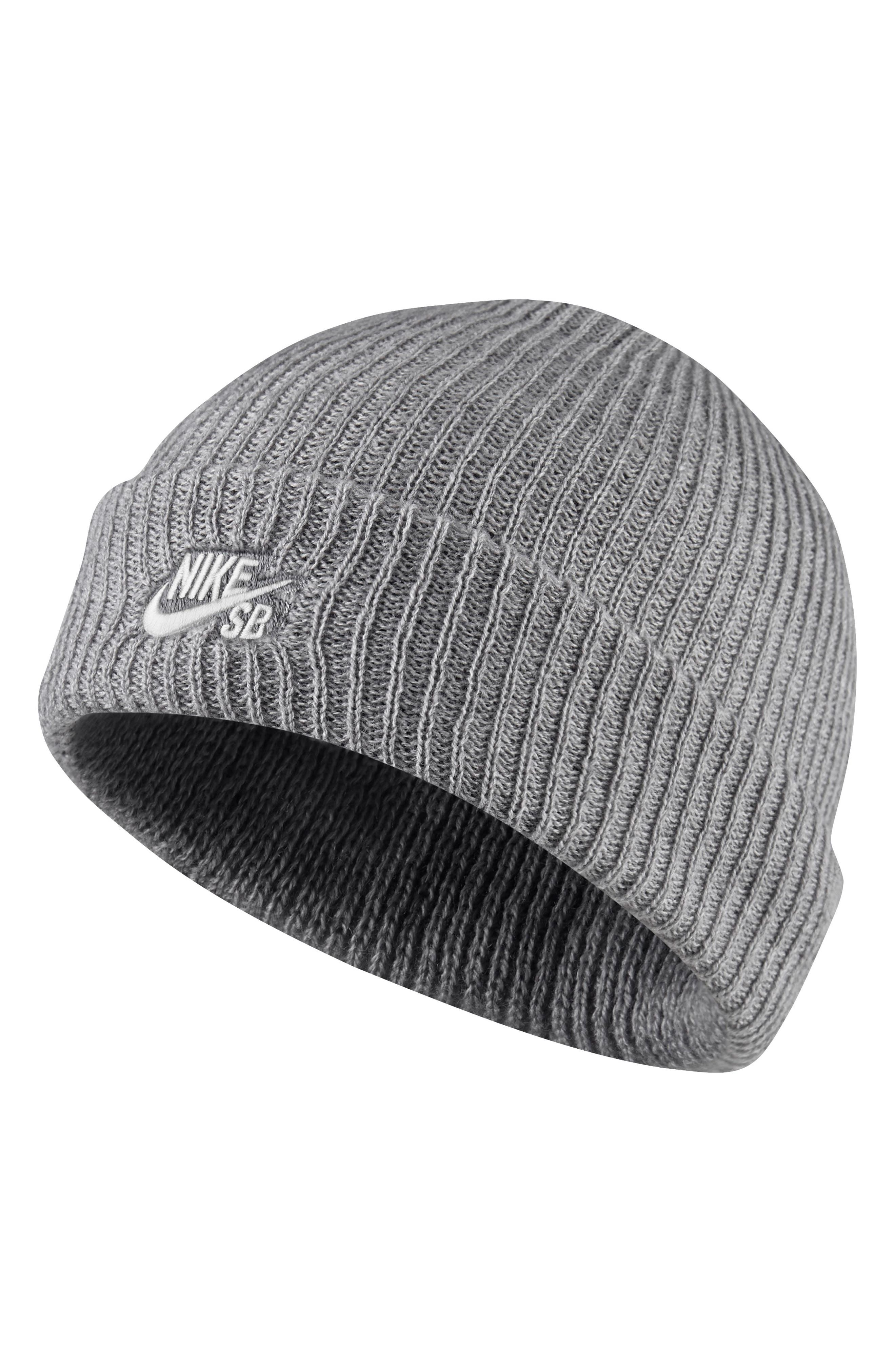 Fisherman Cap, Main, color, DARK GREY HEATHER/WHITE