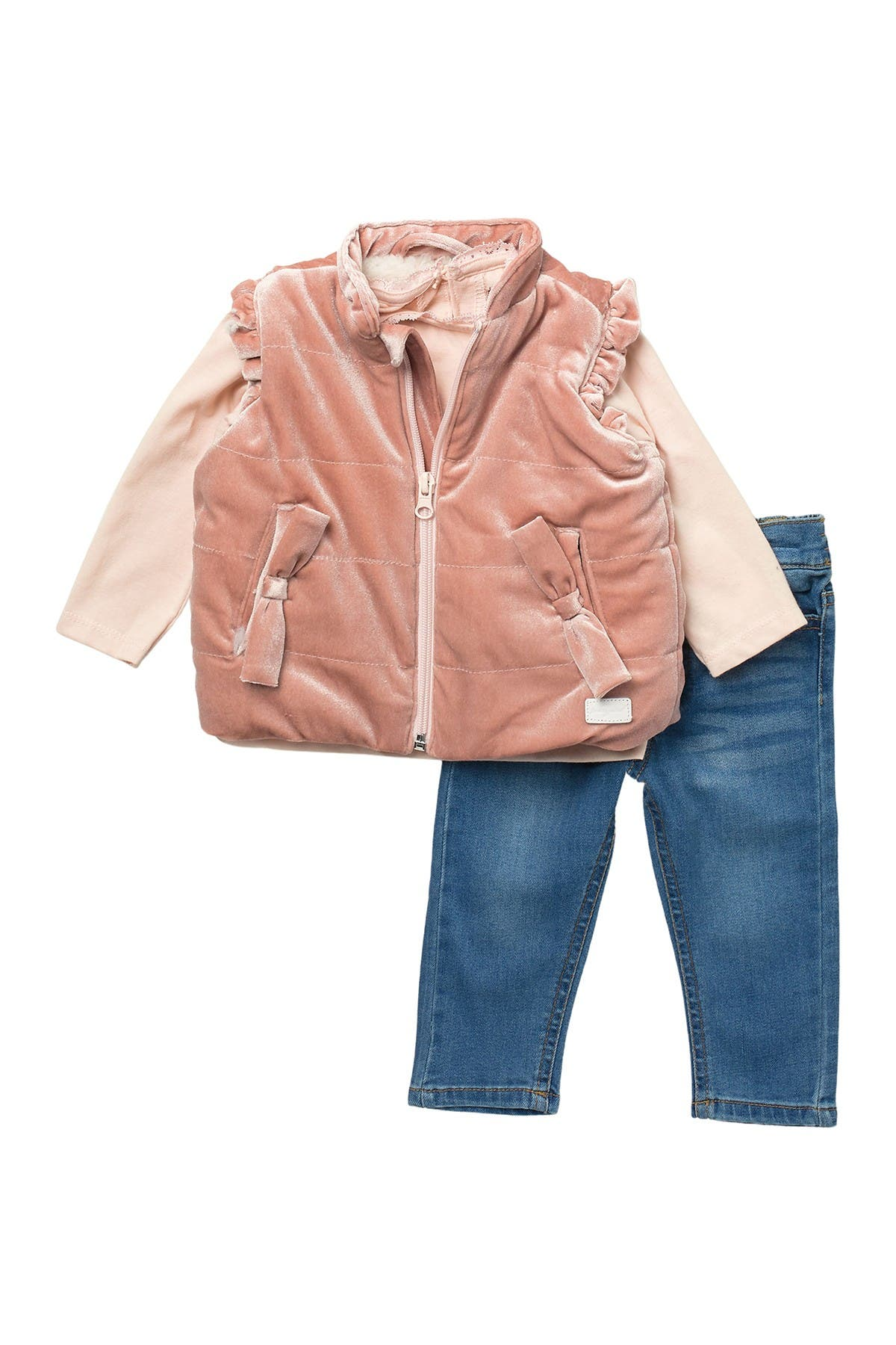 Image of 7 For All Mankind Velvet Vest, Tee, & Jeans Set