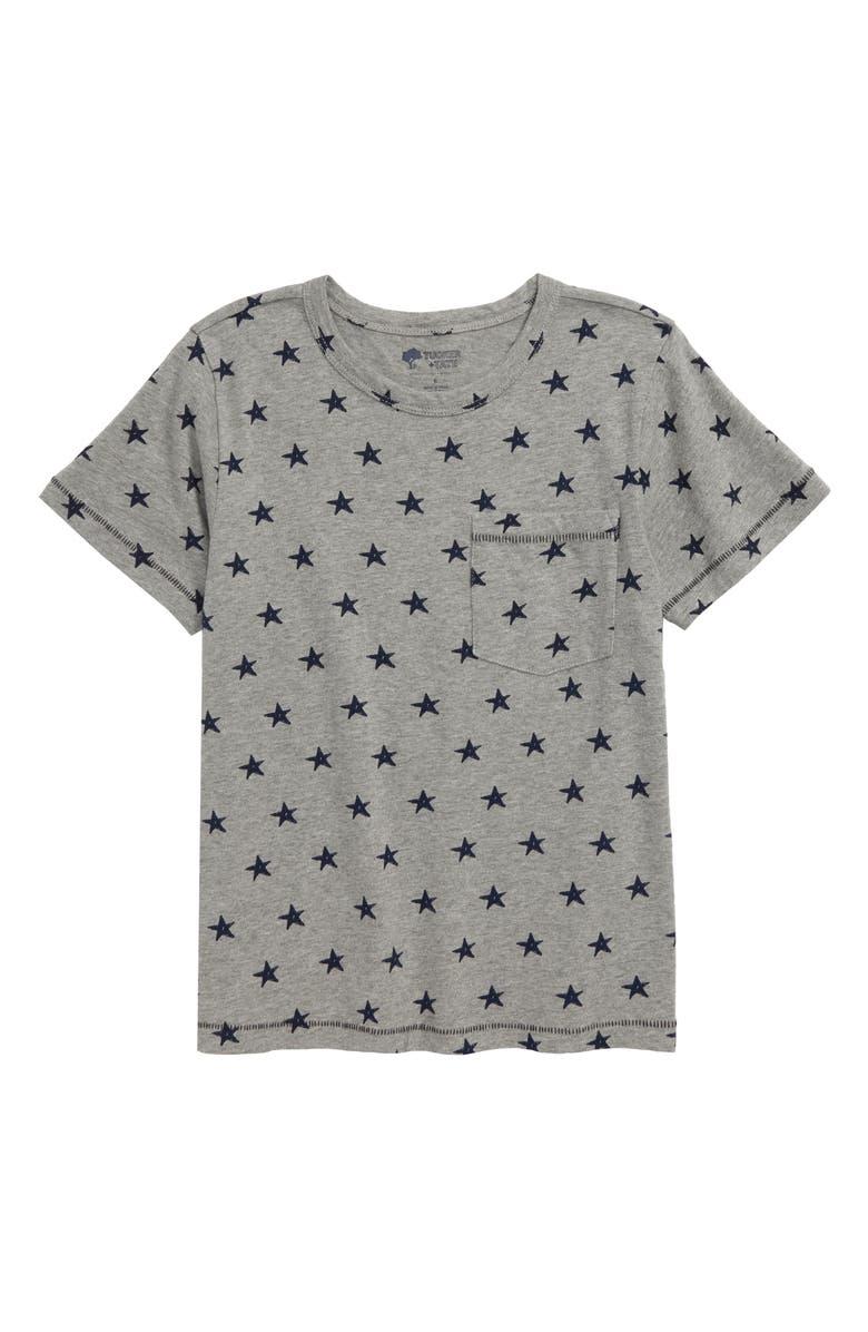 TUCKER + TATE Declaration of Prints T-Shirt, Main, color, GREY MEDIUM HEATHER STARS