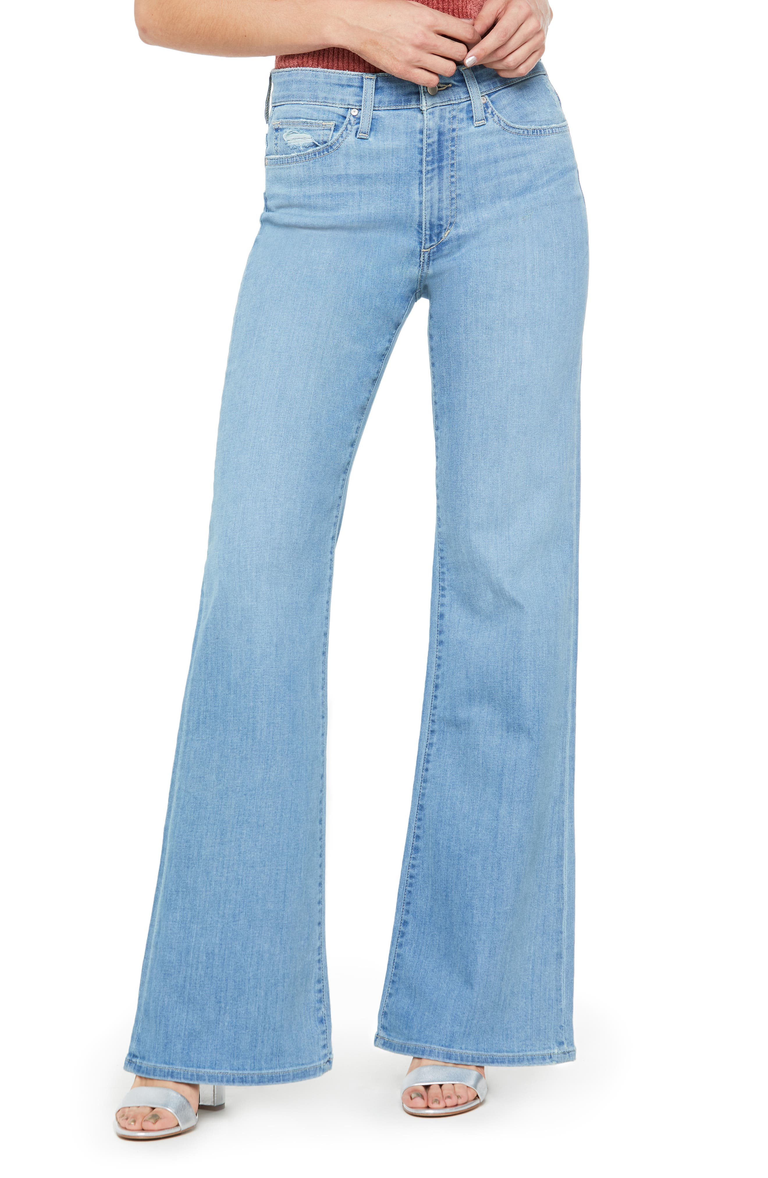 60s – 70s Pants, Jeans, Hippie, Bell Bottoms, Jumpsuits Womens Joes The Molly High Waist Flare Jeans Size 24 - Blue $178.00 AT vintagedancer.com