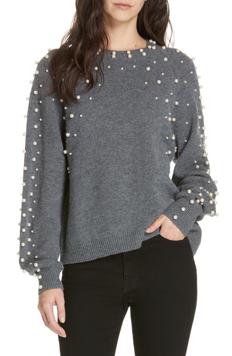 JOIE Nilania Beaded Sweater, Main, color, 020