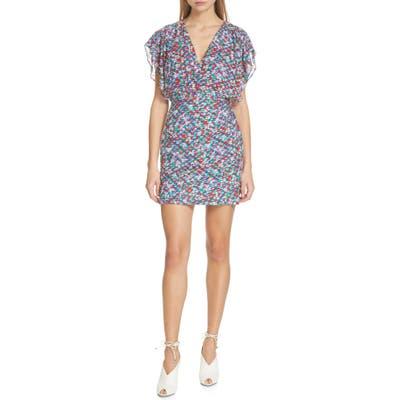 Saloni Brooke Print Dress, Blue