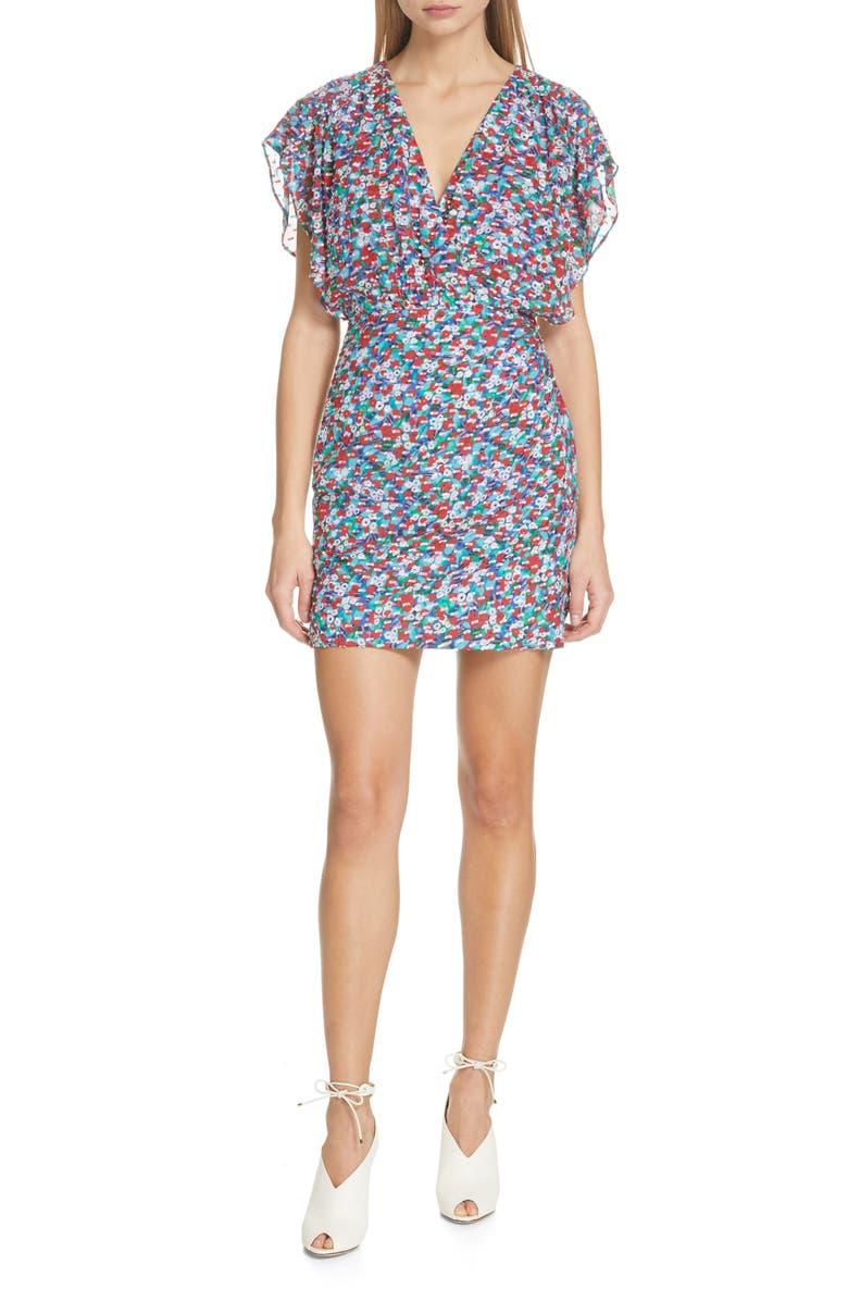 SALONI Brooke Print Dress, Main, color, 400