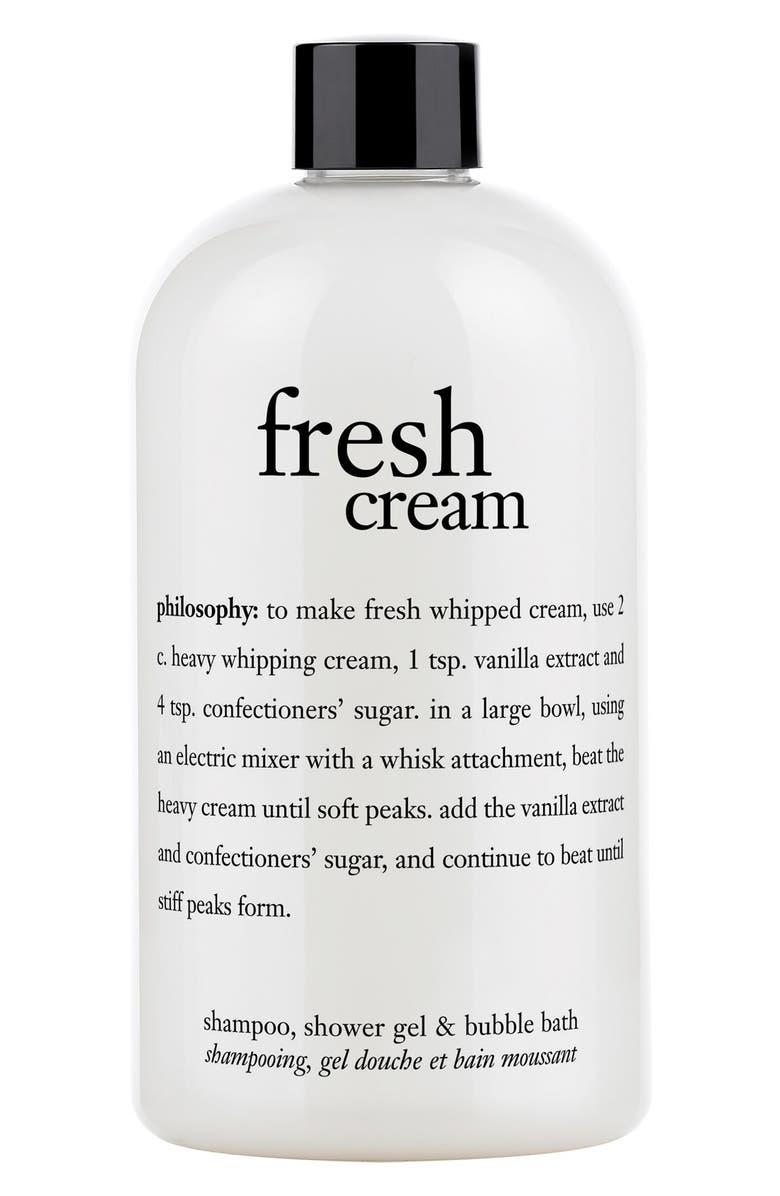 PHILOSOPHY fresh cream shampoo, shower gel & bubble bath, Main, color, NO COLOR