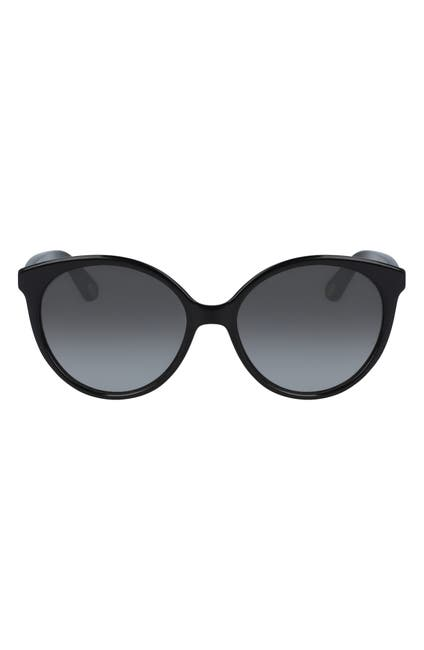 Image of Chloe 58mm Classic Rounded Cat Eye Sunglasses