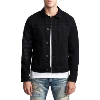 True Religion Brand Jeans Dylan Denim Jacket, Black