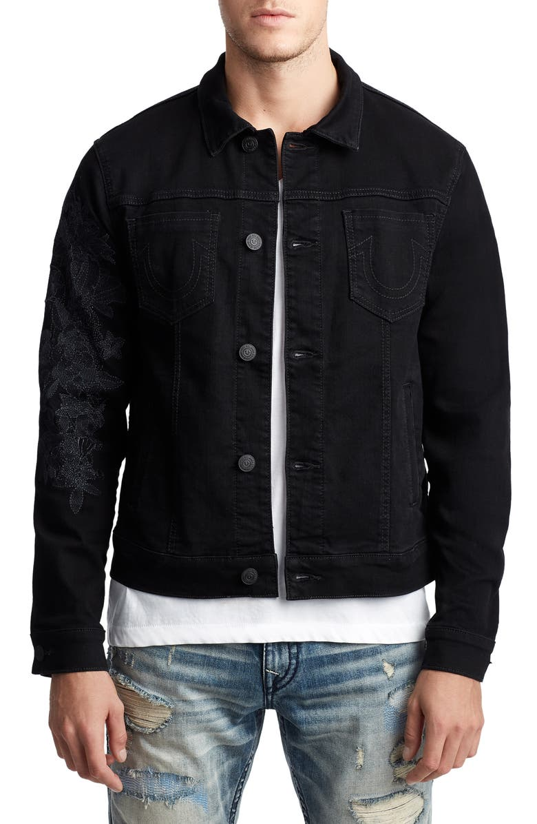 TRUE RELIGION BRAND JEANS Dylan Denim Jacket, Main, color, FPCB MAGNETIC FIELD