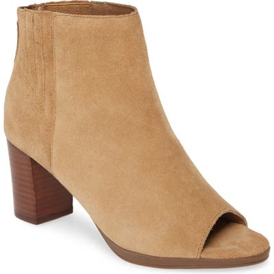 Bella Vita Lex Open Toe Bootie W - Brown