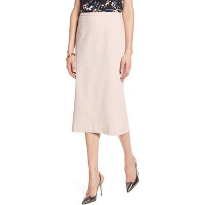 Petite Halogen Stretch Twill Pencil Skirt, Pink