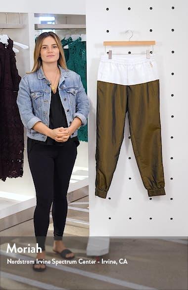 Colorblock Crinkled Nylon Jogger Pants, sales video thumbnail