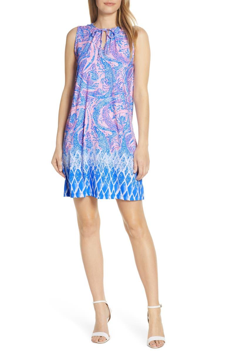 LILLY PULITZER<SUP>®</SUP> Johana Cover-Up Shift Dress, Main, color, COASTAL BLUE MAYBE GATO