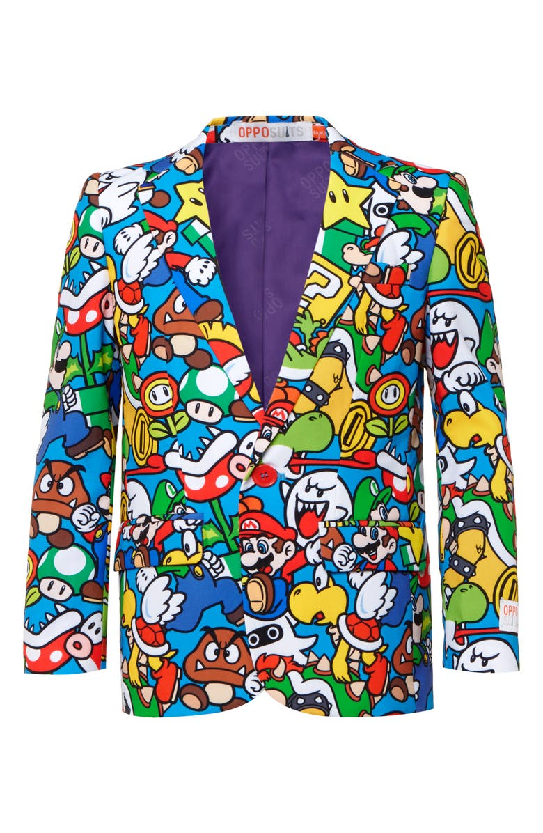 OPPOSUITS Super Mario Two-Piece Suit with Tie, Main, color, 966