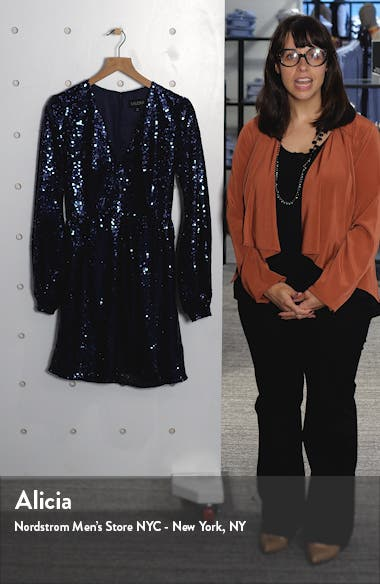 Camille Sequin Long Sleeve Minidress, sales video thumbnail