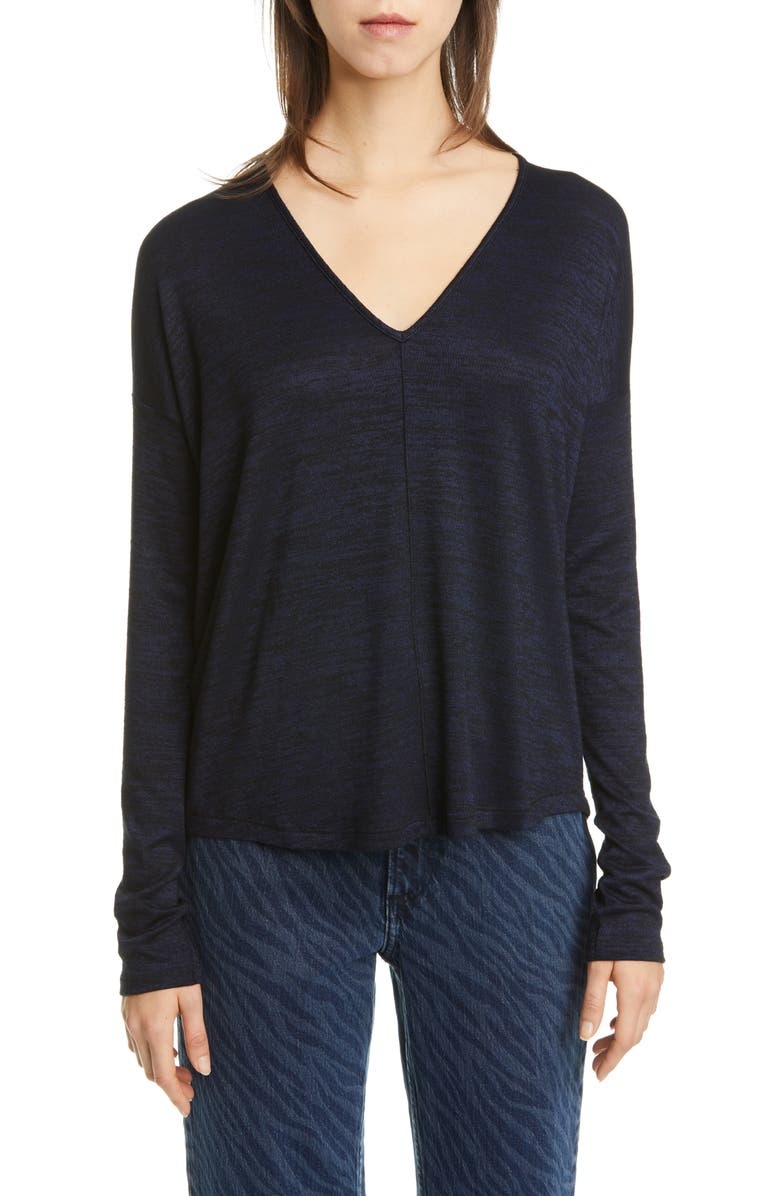 RAG & BONE Hudson Tee, Main, color, NAVY BLACK