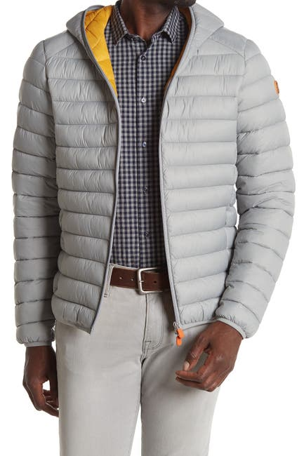 Image of Save The Duck Hooded Zip Puffer Jacket