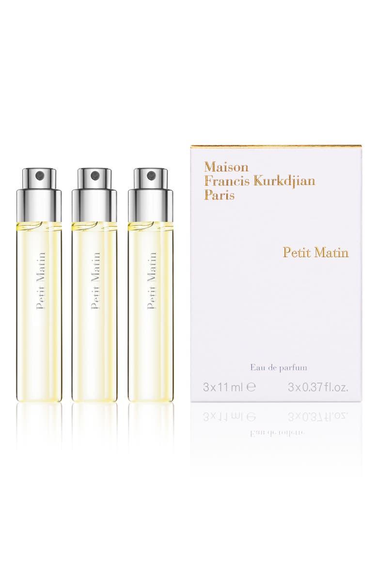 MAISON FRANCIS KURKDJIAN PARIS Petit Matin Eau de Parfum Travel Spray Trio, Main, color, NO COLOR