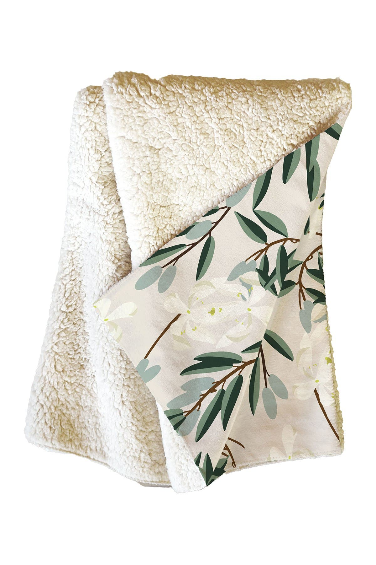 Image of Deny Designs Holli Zollinger Olive Bloom Fleece Throw Blanket