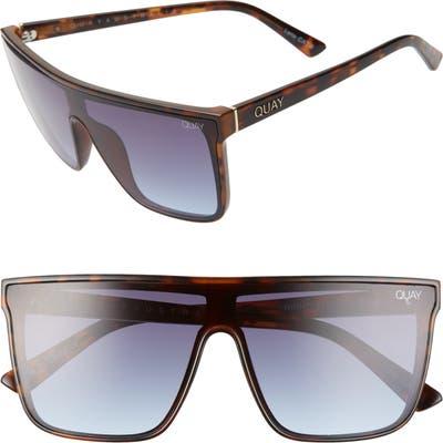 Quay Australia X Chrissy Teigen Night Fall 52mm Gradient Flat Top Sunglasses - Tortoise/ Navy