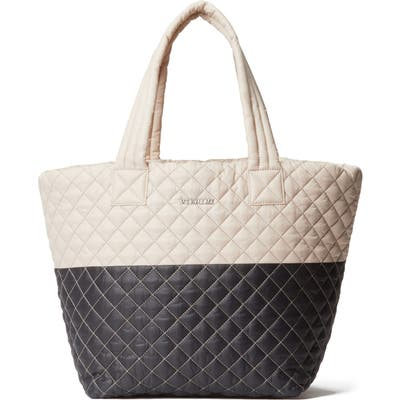 Mz Wallace Medium Metro Quilted Nylon Tote - Beige