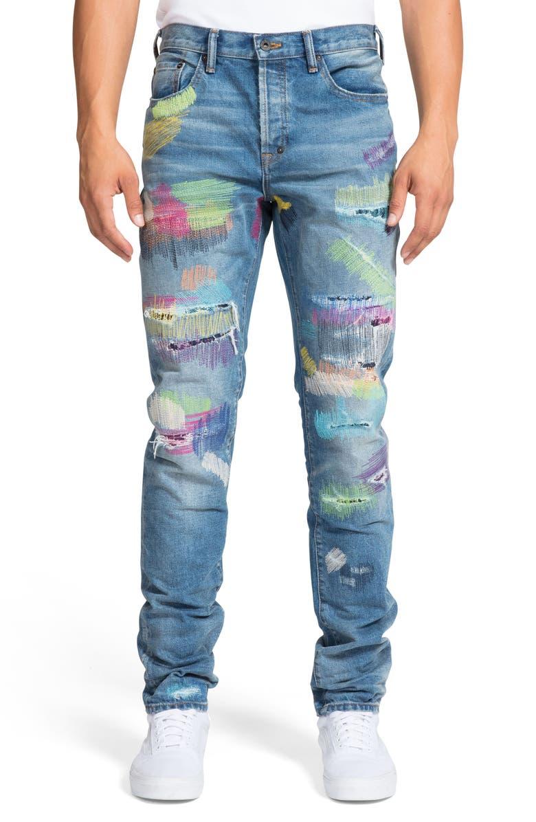 PRPS Le Sabre Rip & Repair Slim Fit Jeans, Main, color, OAKLAND