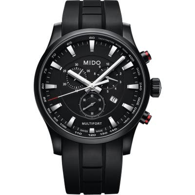 Mido Multifort Chronograph Rubber Strap Watch