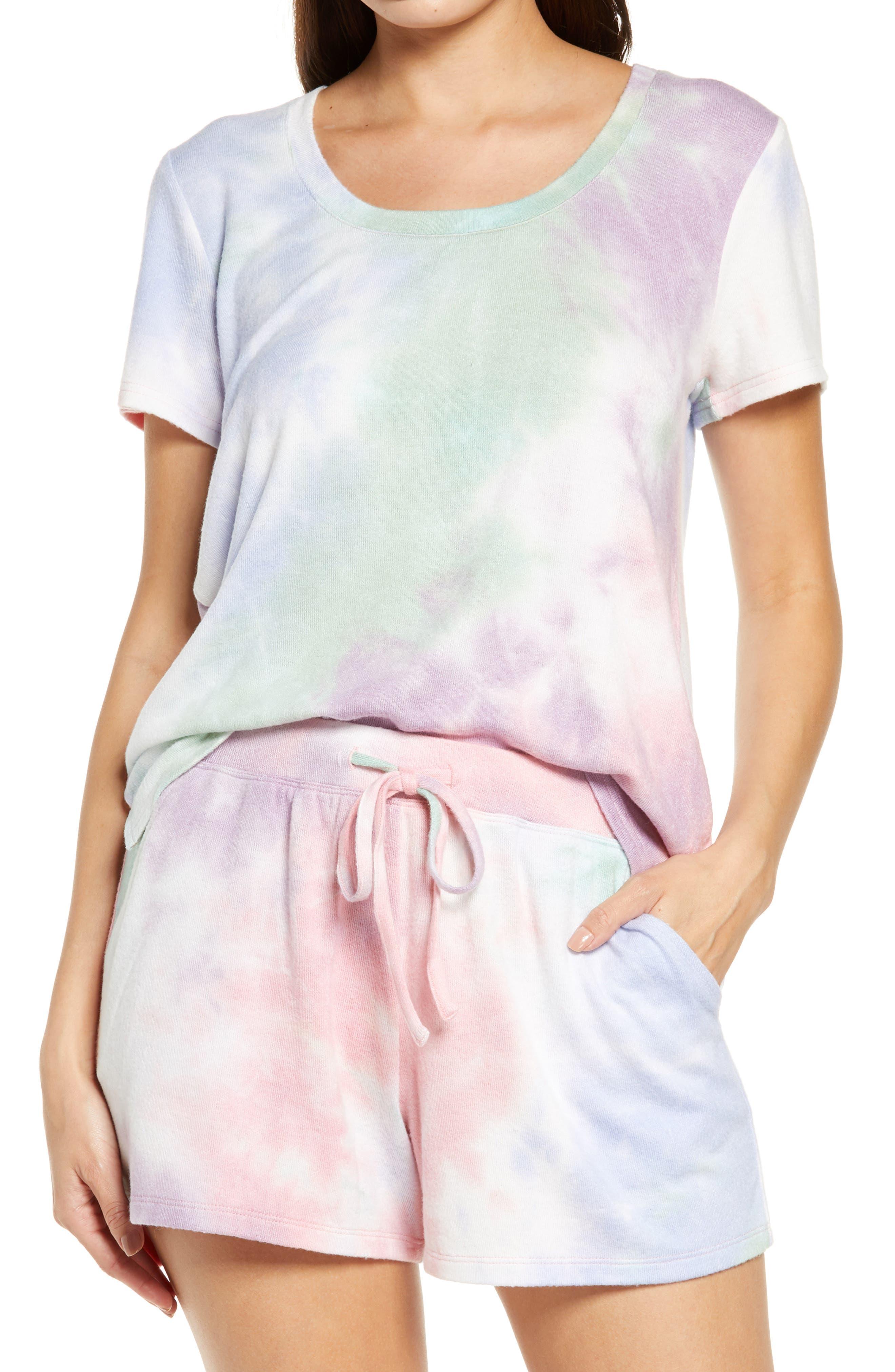 Scoop Neck Hacci Knit Sleep T-Shirt