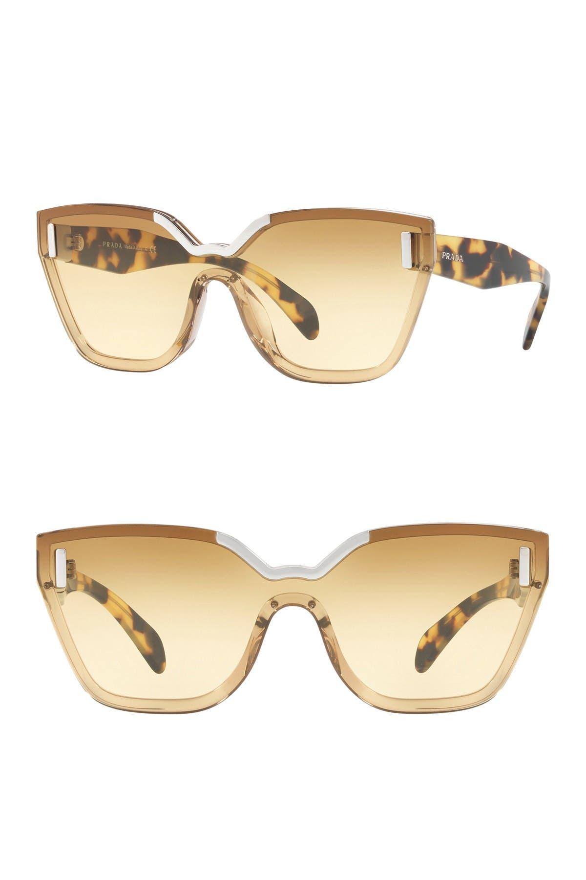 Image of Prada 56mm Irregular Sunglasses