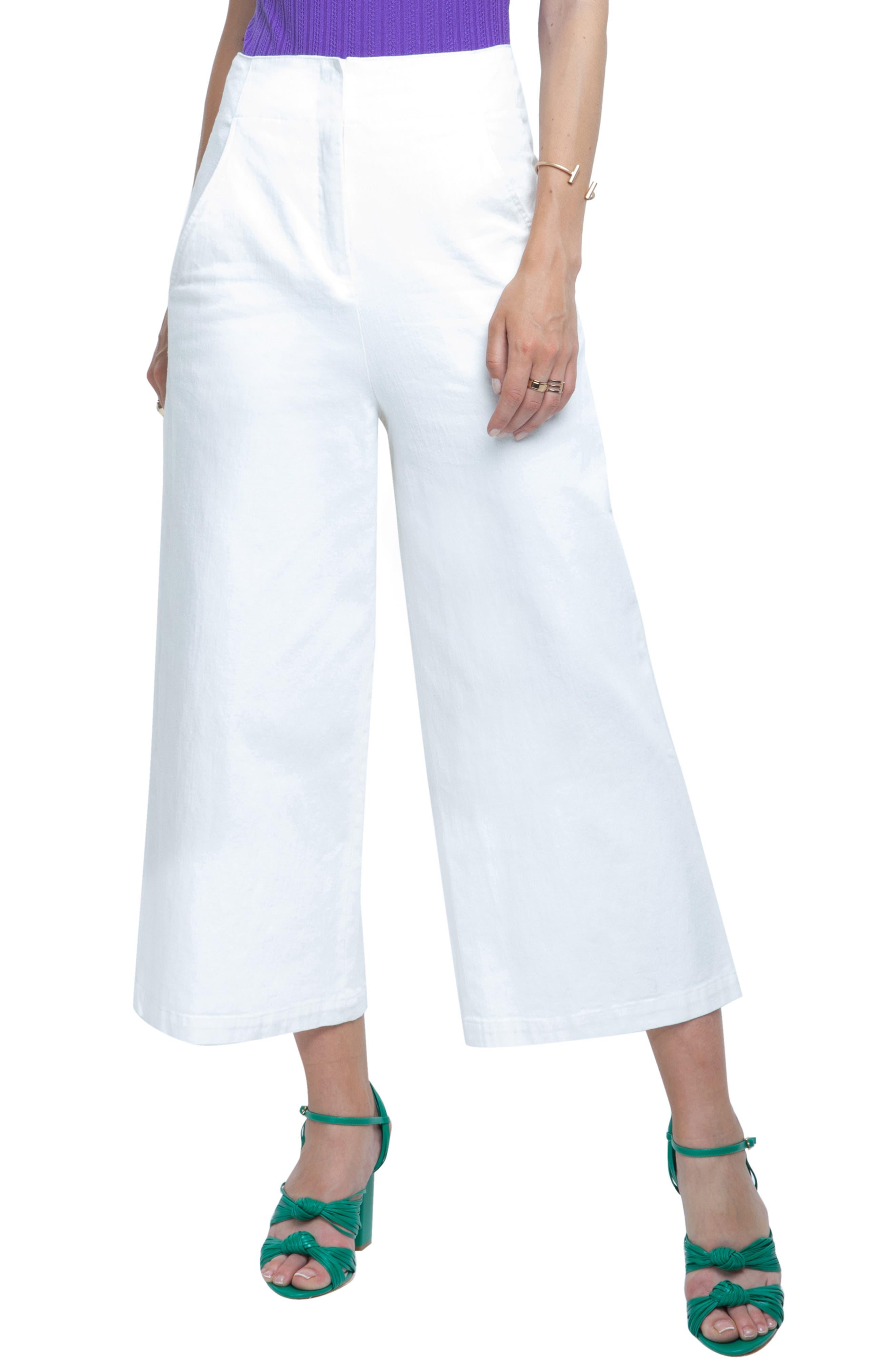 Nixon High Waist Culottes, Main, color, WHITE