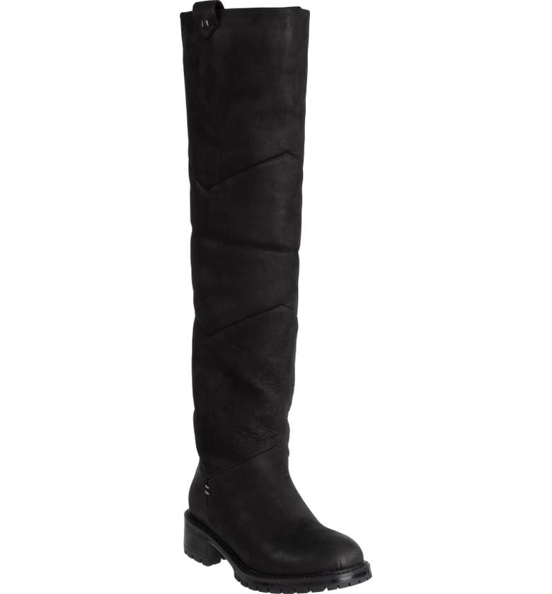ROSS & SNOW Elena Weatherproof Genuine Shearling Lined Knee High Boot, Main, color, 001