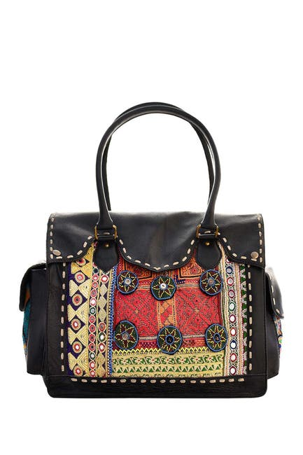 Image of Vintage Addiction Leather Accented Weekend Bag