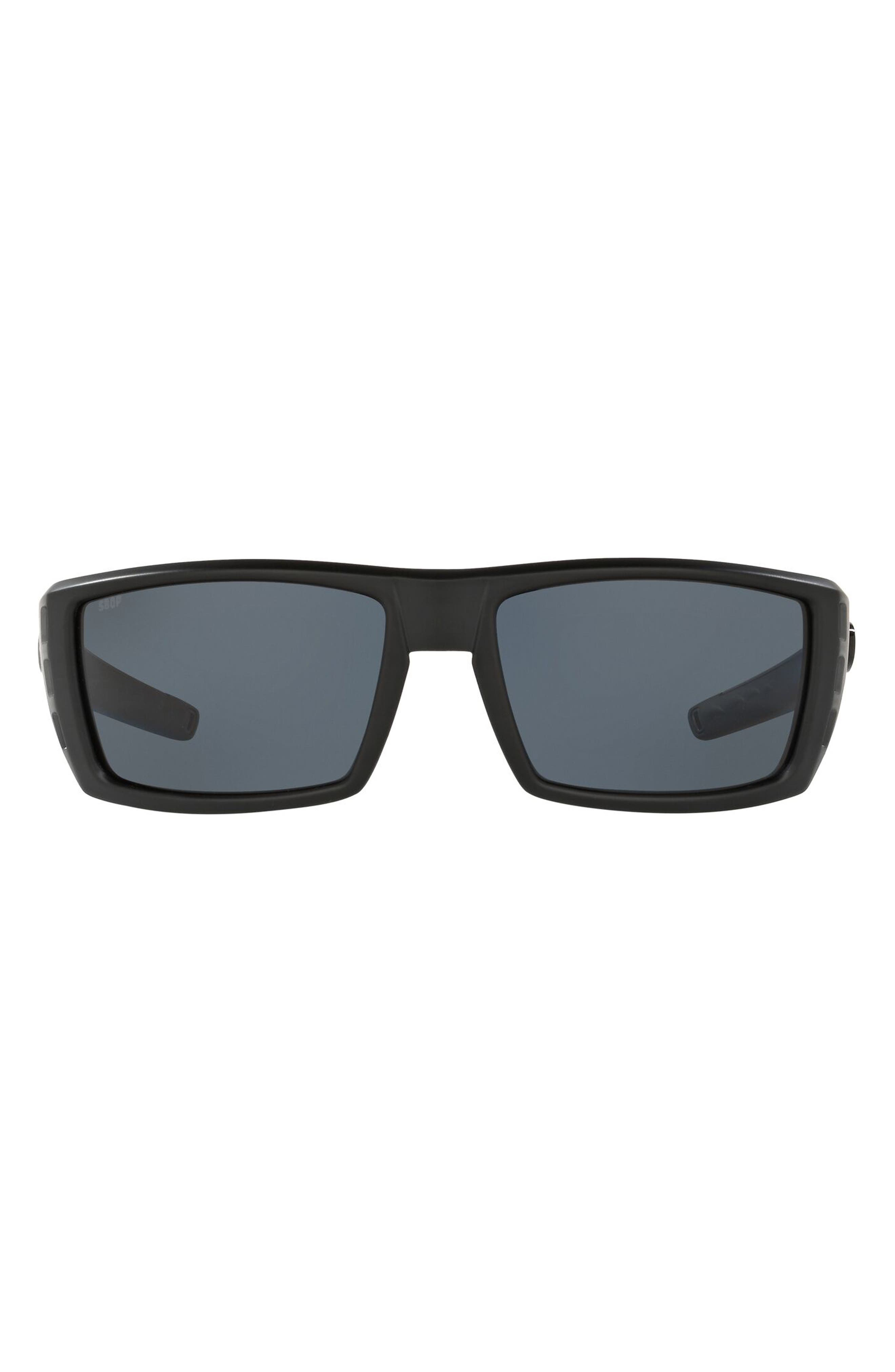 59mm Polarized Rectangle Sunglasses