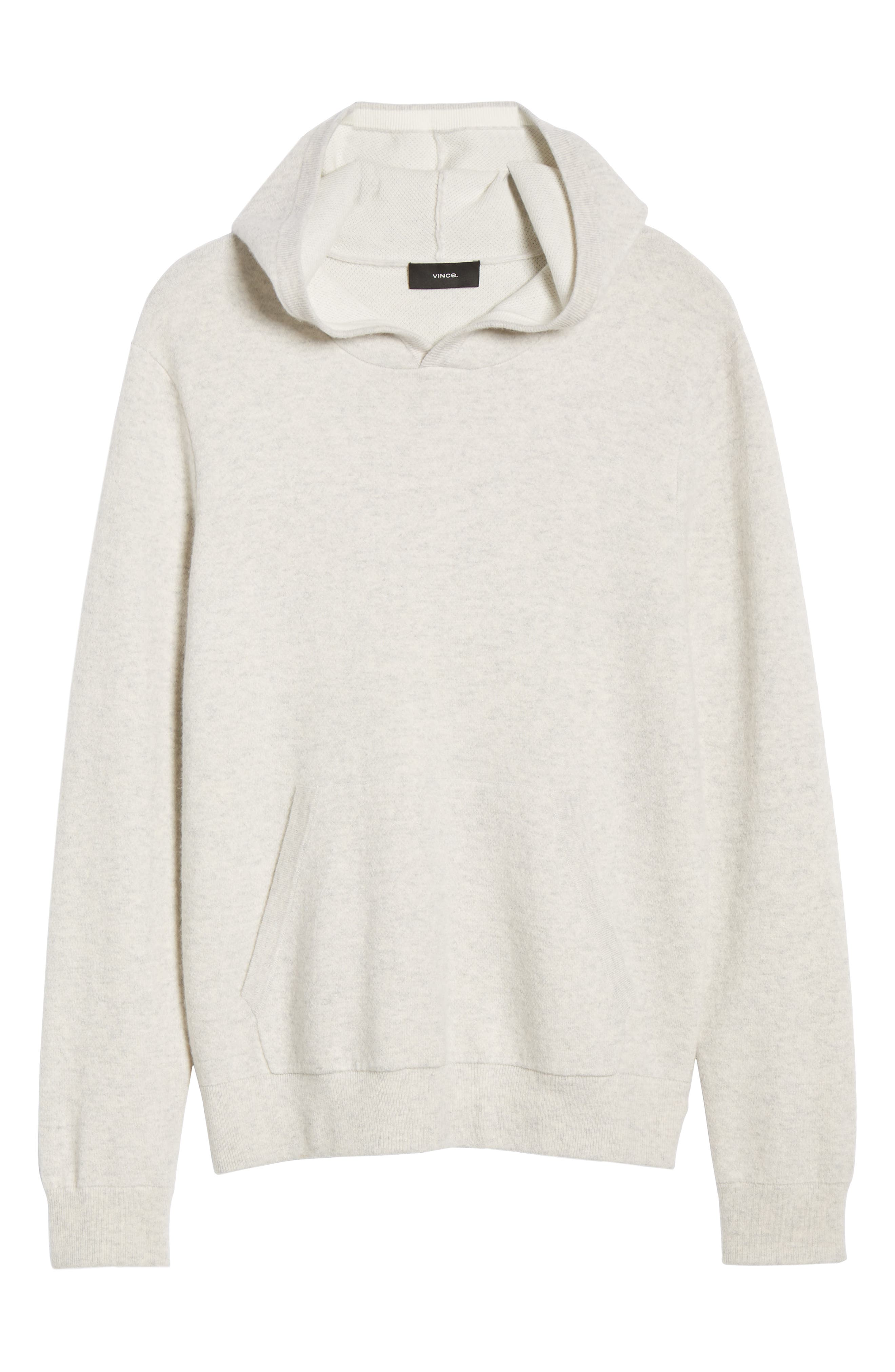 ,                             Wool & Cashmere Pullover Hoodie,                             Alternate thumbnail 6, color,                             H CLOUD/ OPTIC WHITE