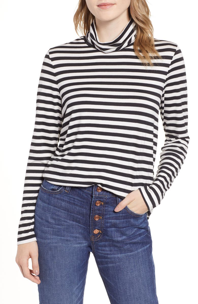 EVERLEIGH Knit Shirttail Turtleneck, Main, color, 003
