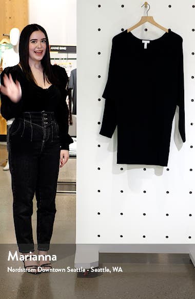 Long Sleeve Dolman Sweater Minidress, sales video thumbnail