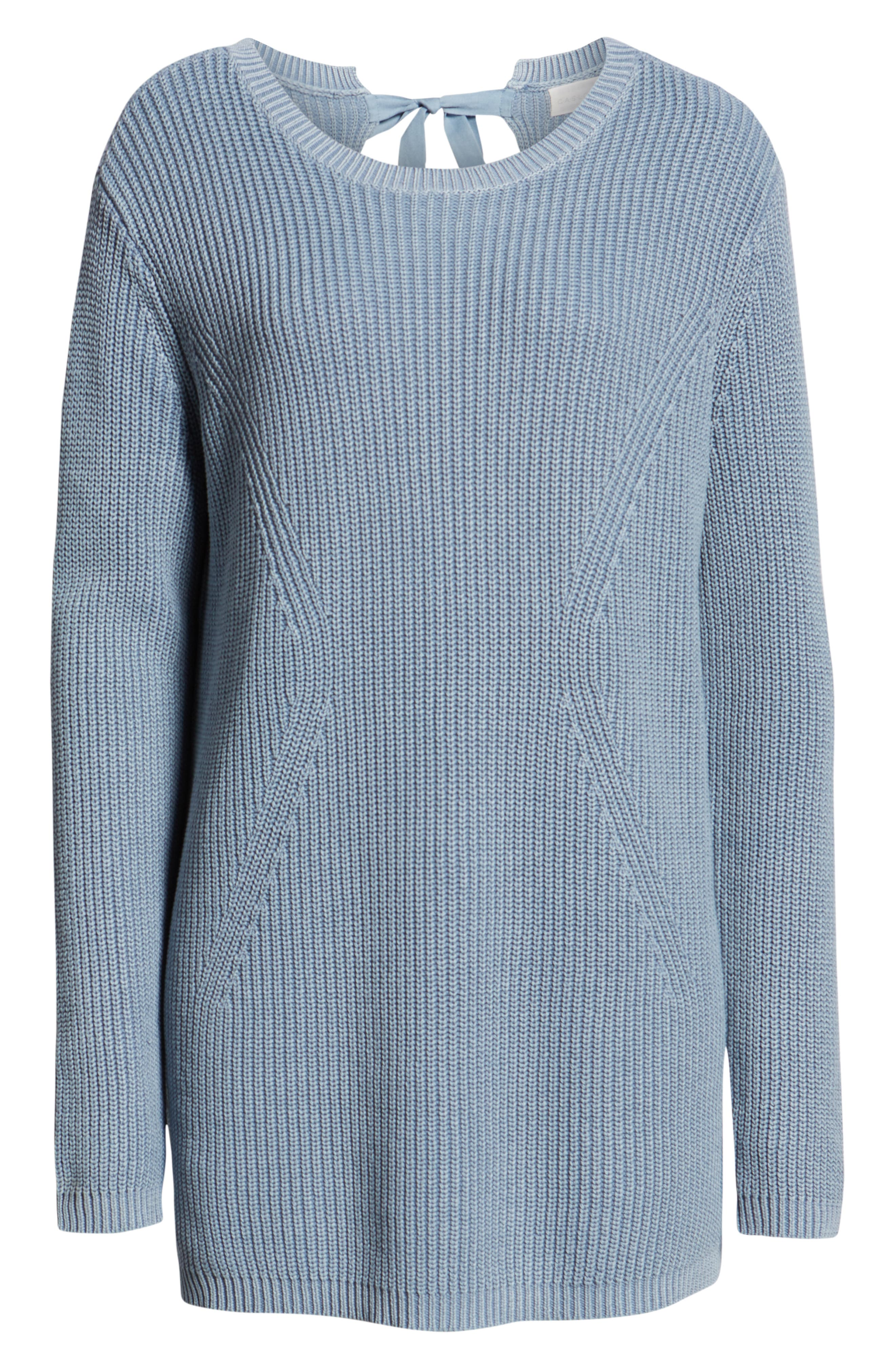 ,                             Tie Back Tunic Sweater,                             Alternate thumbnail 24, color,                             450