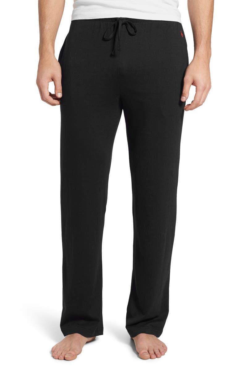 POLO RALPH LAUREN Pajama Pants, Main, color, POLO BLACK