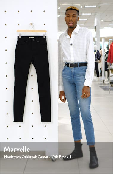 9-Inch Raw Hem Ankle Skinny Jeans, sales video thumbnail
