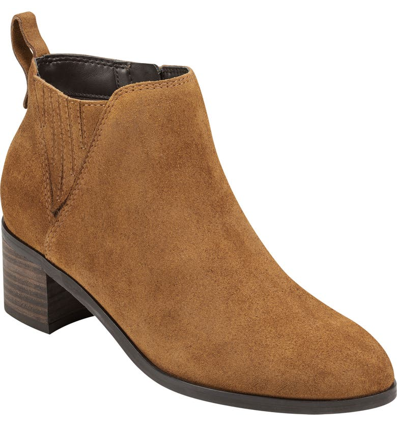 EVOLVE Scuff Bootie, Main, color, MED. BROWN LEATHER