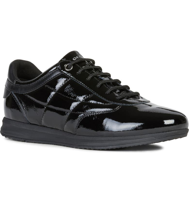 GEOX Avery Sneaker, Main, color, BLACK LEATHER