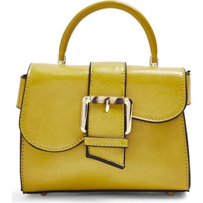 Topshop Minny Buckle Mini Bag - Yellow