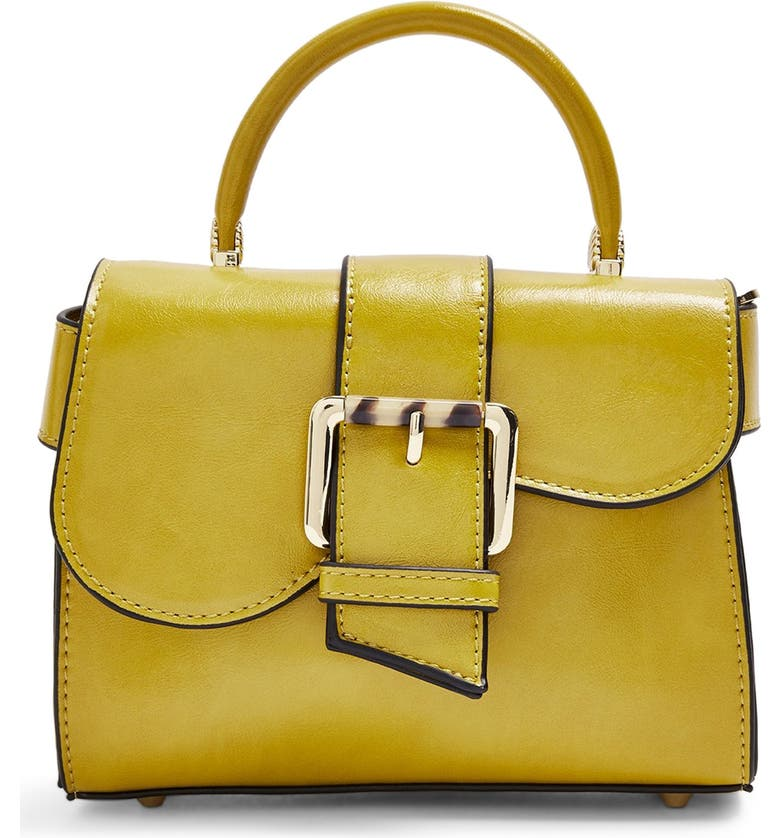 TOPSHOP Minny Buckle Mini Bag, Main, color, YELLOW