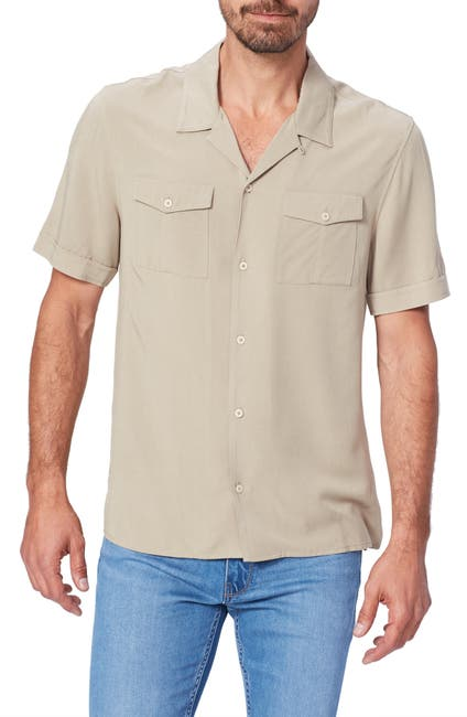 Image of PAIGE Brookside Short Sleeve Button-Up Camp Shirt