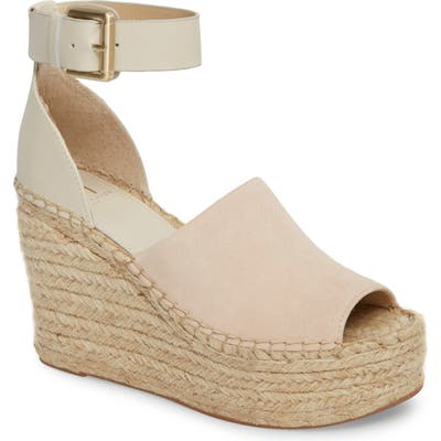 Marc Fisher Ltd Adalyn Espadrille Wedge Sandal, White