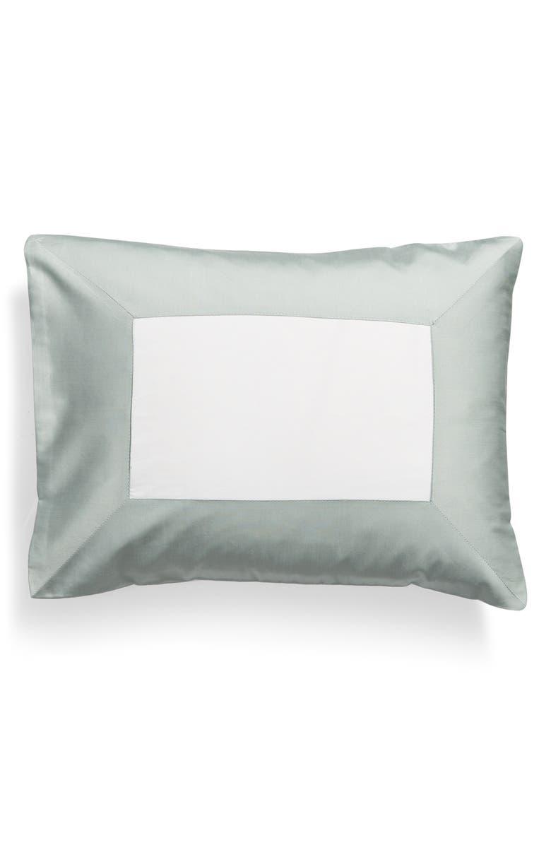 SFERRA Casida Boudoir Pillow, Main, color, WHITE/ SEAGREEN