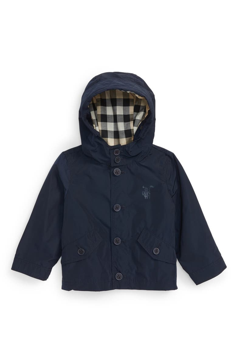 BURBERRY 'Mini Arlie' Hooded Jacket, Main, color, 412