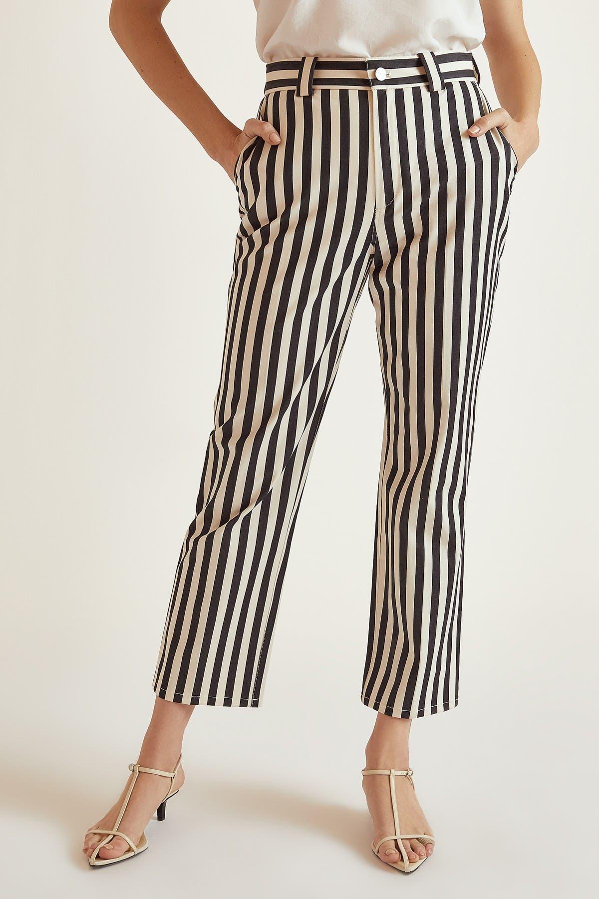 Image of BALDWIN Bridgette Stripe Straight Leg Pants