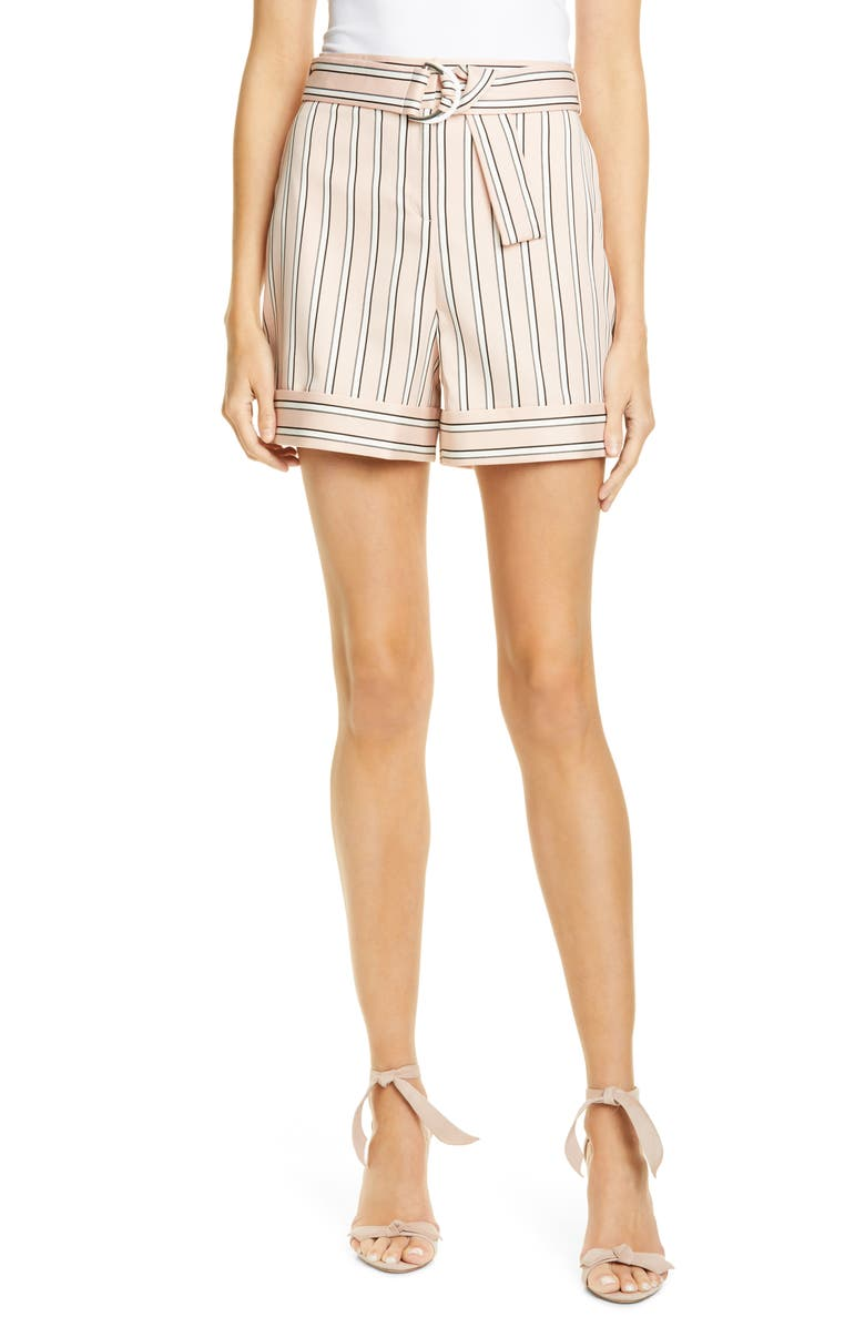 TED BAKER LONDON Betiias Tailored Stripe Shorts, Main, color, LIGHT PINK