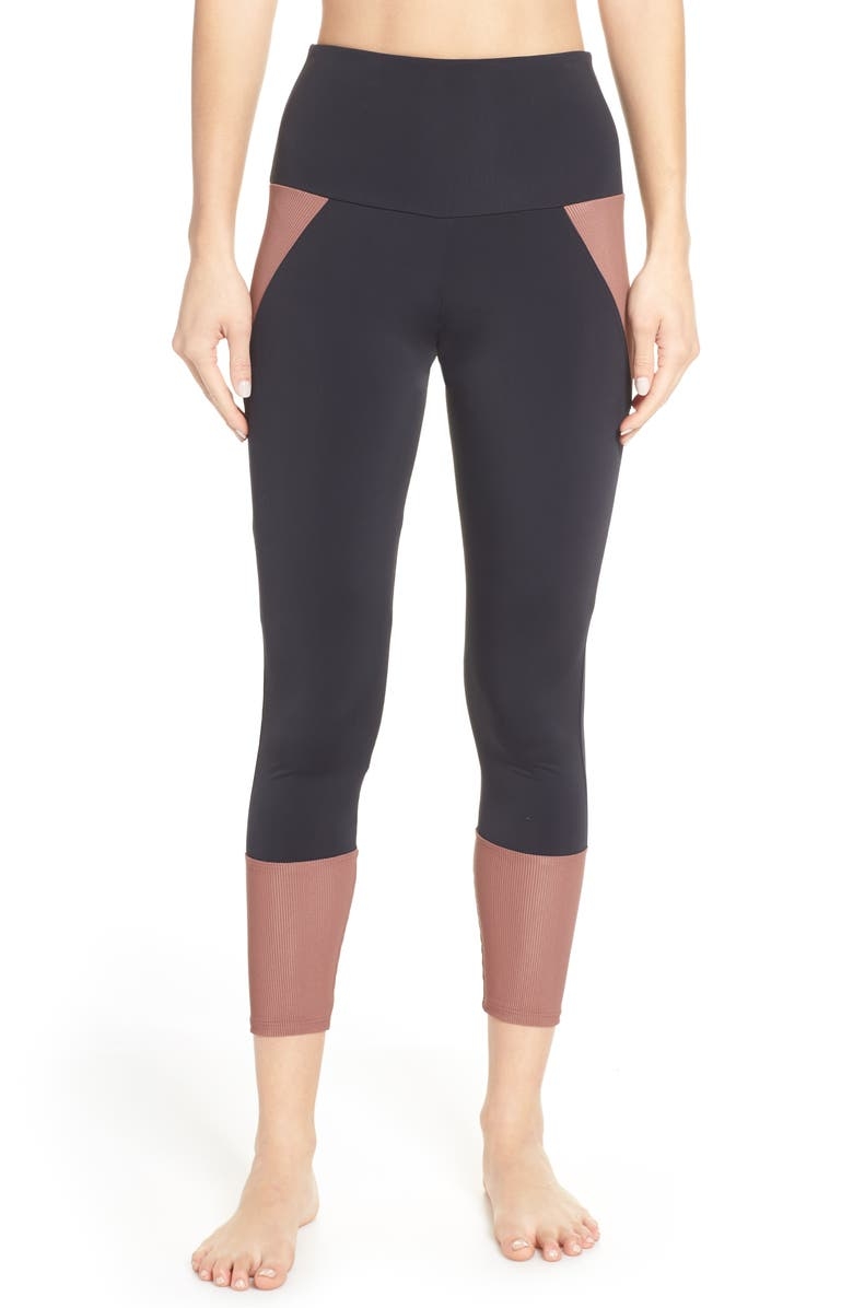 ONZIE Athletic Cropped Leggings, Main, color, 002