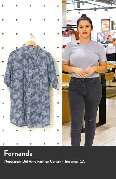 Chronic Sunshine Slim Fit Short Sleeve Button-Up Shirt, sales video thumbnail